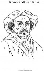 kleurplaat Rembrandt van Rijn