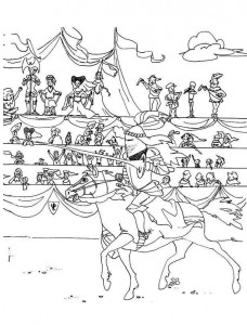 coloring page Knights (2)