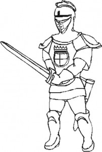 coloring page Knights (21)