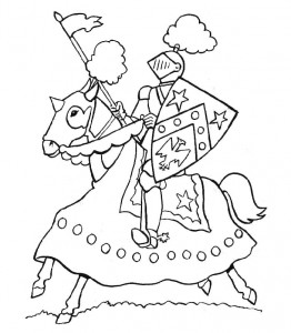coloring page Knights (29)