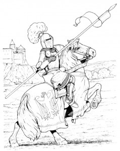 coloring page Knights (30)