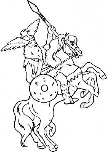 kleurplaat Ridders (32)