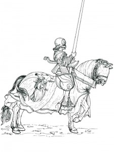 coloring page Knights (37)