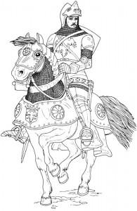 kleurplaat Ridders (38)