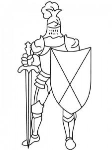 kleurplaat Ridders (40)
