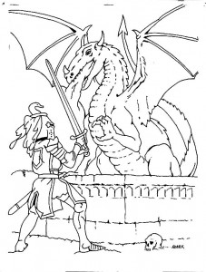 coloring page Knights (6)