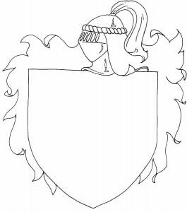 målarbok Knights vapen
