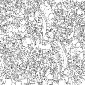 coloring page rio favela