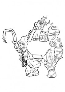 coloring page road hog