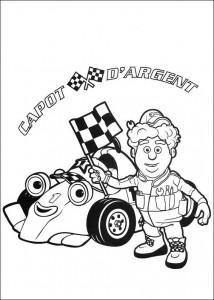 kleurplaat Roary de racewagen (1)