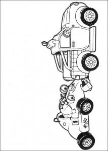 kleurplaat Roary de racewagen (2)