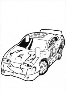 kleurplaat Roary de racewagen (4)