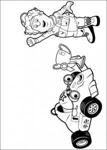 målarbok Roary racerbilen