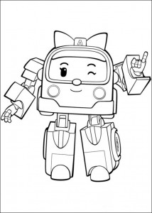coloring page robo amber 2