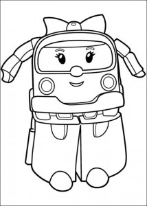 robo amber coloring page