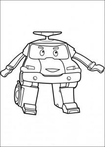robo poli coloring page