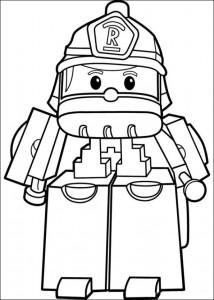 pagina da colorare robo roi 2
