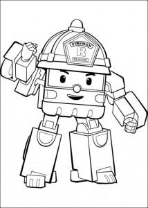 coloring page robo roi 3