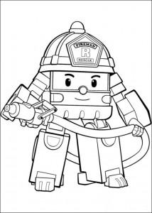 robo roi coloring page