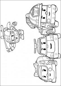Dibujo para colorear roboca 4