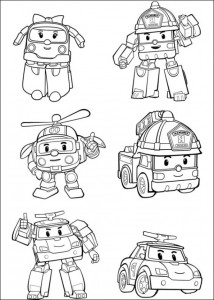coloring page robocar 2