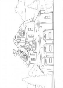 Página para colorear de robocar-poli