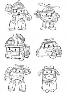 robocar coloring page