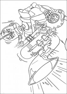 coloring page Robots (10)