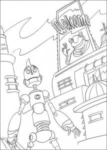 kleurplaat Robots (11)