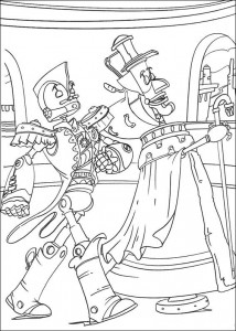 coloring page Robots (3)