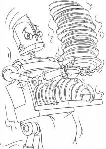 coloring page Robots (4)
