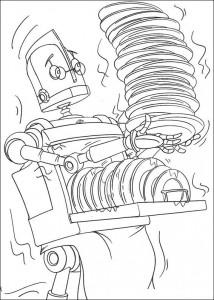 kleurplaat Robots (4)