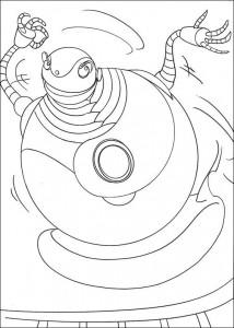 kleurplaat Robots (6)