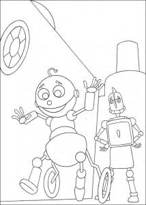 kleurplaat Robots (8)
