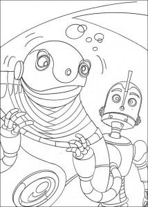 målarbok Roboter