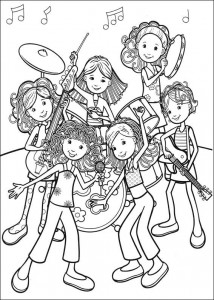 coloring page Rock band