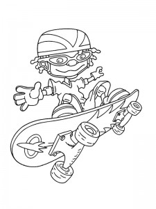 coloring page Rocket Power (19)