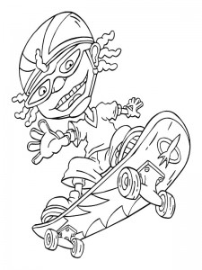 coloring page Rocket Power (22)