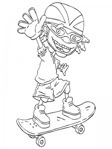 coloring page Rocket Power (24)