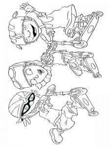 coloring page Rocket Power (34)