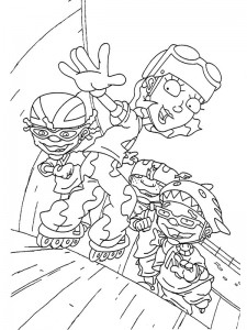 coloring page Rocket Power (46)