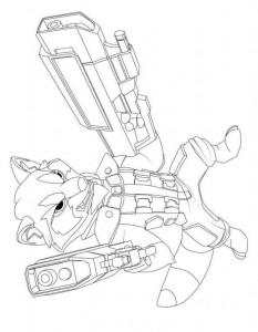 coloring page rakett vaskebjørn (1)
