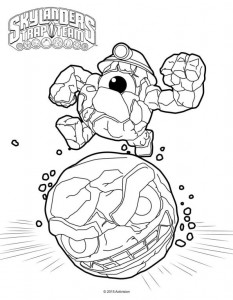 coloring page rocky roll