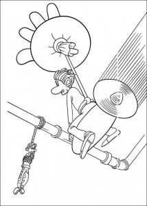 coloring page Roddy rescues Rita
