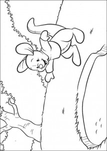 coloring page Roe finds a trace