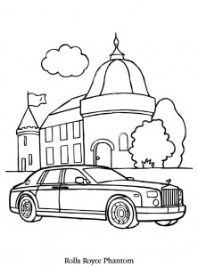 coloriage rolls royce phantom