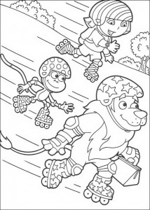coloring page Roller skates