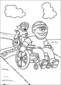 coloring page Wheelchairs