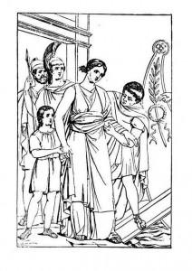 coloring Roman scene