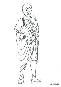 coloring Roman man